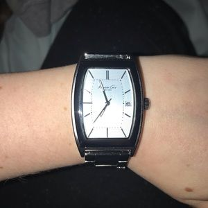 Men's Kenneth Cole Silver and baby blue face watch